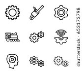 engine icons set. set of 9... | Shutterstock .eps vector #653173798