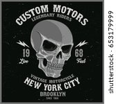 vintage biker graphics and... | Shutterstock .eps vector #653179999
