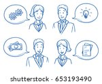modern business man and woman... | Shutterstock .eps vector #653193490