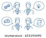 modern business man and woman... | Shutterstock .eps vector #653193490