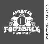 american football label  emblem ...   Shutterstock .eps vector #653195716