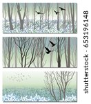 nature bunners with spring...   Shutterstock .eps vector #653196148