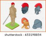 knight armor and helmets set...   Shutterstock .eps vector #653198854