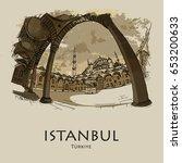 istanbul  turkey  blue mosque ...   Shutterstock .eps vector #653200633