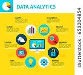 database analytics infographic. ... | Shutterstock .eps vector #653204854