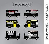 food truck street festival... | Shutterstock .eps vector #653209660
