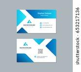 business card design trendy... | Shutterstock .eps vector #653217136