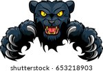 Mean Black Panther Mascot...