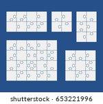 puzzles on blue background. set ...