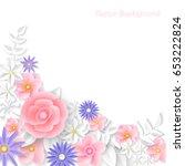 paper flower. background. can... | Shutterstock .eps vector #653222824
