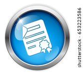 diploma paper icon | Shutterstock .eps vector #653223586