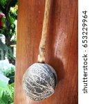 thai dipper from coconut shell... | Shutterstock . vector #653229964