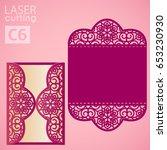 vector die laser cut envelope... | Shutterstock .eps vector #653230930