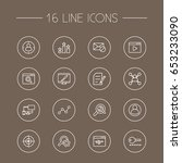 set of 16 engine outline icons... | Shutterstock .eps vector #653233090