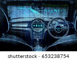 smart car  hud  and augmented... | Shutterstock . vector #653238754