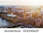 Aerial Panorama View On London...