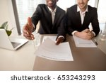 close up of black businessman... | Shutterstock . vector #653243293