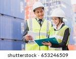 secretary and businessman in...   Shutterstock . vector #653246509