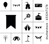 festival icon. set of 13 filled ... | Shutterstock .eps vector #653247178