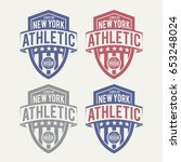 athletic sport label typography ... | Shutterstock .eps vector #653248024