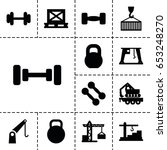 lifting icon. set of 13 filled... | Shutterstock .eps vector #653248270