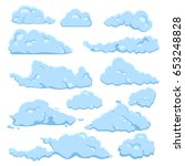 vector set of blue cartoon... | Shutterstock .eps vector #653248828