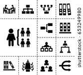 set of 13 filled organization... | Shutterstock .eps vector #653249980