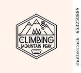 climbing logo consisting of... | Shutterstock .eps vector #653250889
