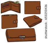 vector set of cartoon brown...   Shutterstock .eps vector #653253436