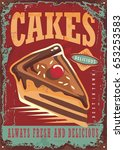 Cakes And Sweets Vintage Sign...