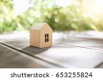house paper model with... | Shutterstock . vector #653255824