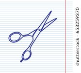 hair cutting scissors sign.... | Shutterstock .eps vector #653259370
