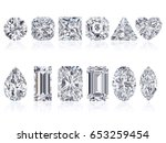 twelve the most popular diamond ... | Shutterstock . vector #653259454