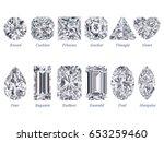 twelve the most popular diamond ... | Shutterstock . vector #653259460