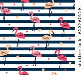 Seamless Pattern With Flamingo...