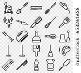 set of 25 outline icons such as ... | Shutterstock .eps vector #653261638