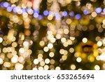 christmas outdoor decorations... | Shutterstock . vector #653265694
