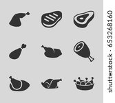 roast icons set. set of 9 roast ... | Shutterstock .eps vector #653268160