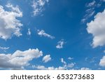 blue sky with white cloud....   Shutterstock . vector #653273683