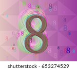 8 number design vector | Shutterstock .eps vector #653274529