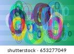 number 0 texture background | Shutterstock .eps vector #653277049