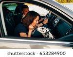 portrait of happy young adult... | Shutterstock . vector #653284900