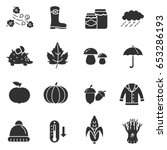 collection of autumn icons....