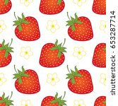 vector seamless pattern with... | Shutterstock .eps vector #653287714