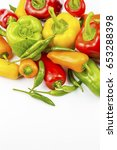 colorful peppers | Shutterstock . vector #653288398
