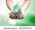 world environment day concept ... | Shutterstock . vector #653294770