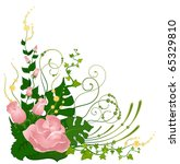 white background with tropical... | Shutterstock . vector #65329810