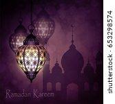 ramadan kareem  greeting...   Shutterstock .eps vector #653298574