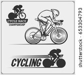 Set Of Cycle Racing Labels ...