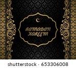 ramadan kareem greeting card... | Shutterstock .eps vector #653306008